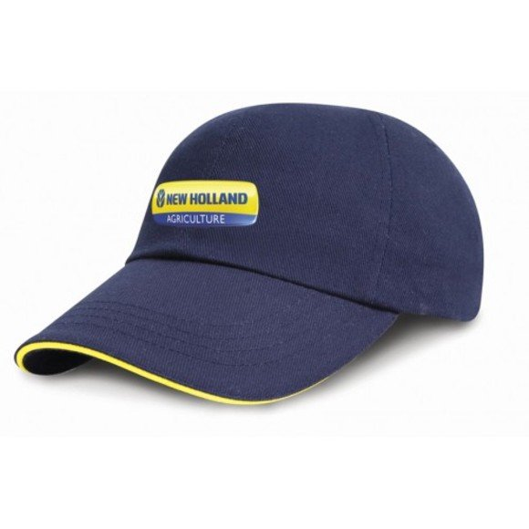 Navy NH Cap With Yellow Trim