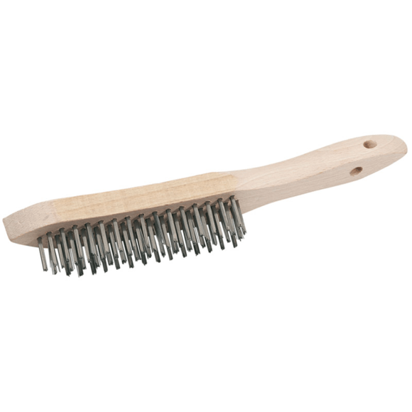 Stainless Steel 4 Row Wire Scratch Brush (310mm)