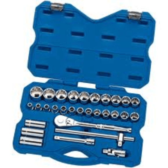 "Draper Expert 30 Piece 1/2"" Sq. Dr. Metric Socket Set"